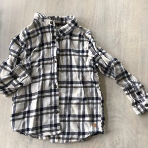Striped flannel button up toddler
